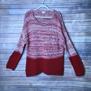 Caslon Cable Knit Pullover Sweater XL